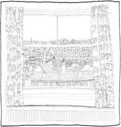 Rear Window Lithographic Print Rachel Eardley