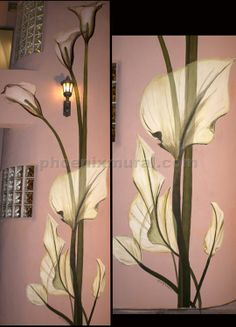 Hand painted Calla Lily Mural