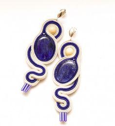 biżuteria-kremowy szafir - żmijki