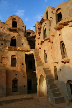 Intricate Structure of a Ksar - Tunisia, Africa ♒ www.pinterest.com/WhoLoves/Beautiful-Buildings ♒  #Architecture