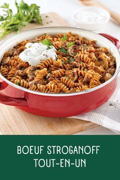 Boeuf Stroganoff tout-en-un - 5 ingredients 15 minutes Pasta, One Pot Meals, Keto, Friends, Ethnic Recipes, Food, Chicken, Drink, Meal