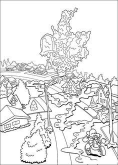 Desenhos para colorir para crianças. Desenhos para imprimir e colorir KND: A Turma do Bairro 6