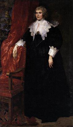 Portrait of Anna van Craesbecke by DYCK, Sir Anthony Van Anthony Van Dyck, Sir Anthony, Anton Van, Dutch Golden Age, Peter Paul Rubens, Baroque Fashion, French Fashion, Dutch Painters, Art Database