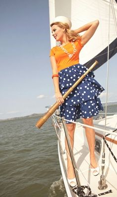 Love this nautical dress.