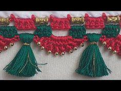Saree Kuchu New Designs, Full Mehndi Designs, Saree Tassels Designs, Blouse Designs, Barn Quilt Designs, Quilting Designs, Latest Sarees, Work Sarees, Crochet Designs