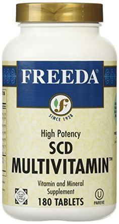 Freeda SCD Multivitamin  180 Tablets -- Read more reviews of the product by visiting the link on the image. (Note:Amazon affiliate link)