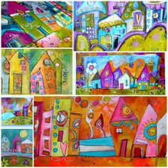 April 18 - Funky Little Cityscapes with Jodi Ohl  New class offering in Raleigh NC!!
