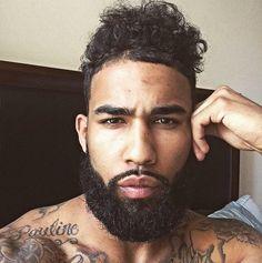 23 Black Men Beards - Top Beard Styles For Black Guys Men In Black, Gorgeous Black Men, Black Guys, Black Men Beards, Handsome Black Men, Great Beards, Awesome Beards, Guys With Beards, Black Men Hairstyles