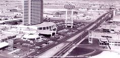 1965 view of the strip - including the Dunes, where the Bellagio lake is now.