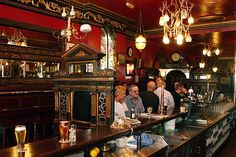"You'll hear native Dubliners say they're going ""down the pub"" or to the ""local"" for some craic (fun). The Long Hall is pictured here. Irish Pub so on my bucket list!!!!"