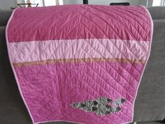 Back of Modern Baby Girl Quilt by Mary Kelly.