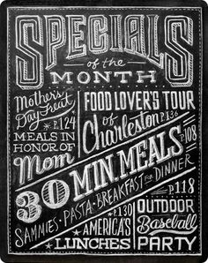 Dana Tanamachi - New York based graphic designer and custom chalk letterer. She also applies her chalk lettering to a wide variety of uses for publications, packaging, and apparel. Chalkboard Typography, Chalk Lettering, Chalkboard Signs, Typography Letters, Lettering Design, Chalkboards, Chalkboard Drawings, Chalk Drawings, Chalkboard Wedding