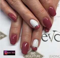 #biosculpturegel #devotedpetal #frenchwhite #silverstripe #naturalnails #overlay #nails #biosculpturebytheresa #paphosnails