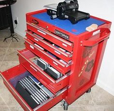 This way of storing my die cutter & dies appeals to me on a number of levels.