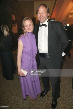 Julia Jentsch and her husband Christian Habluetzel barefoot during the Lola - German Film Award after party at Palais am Funkturm on April 28, 2017 in Berlin, Germany.