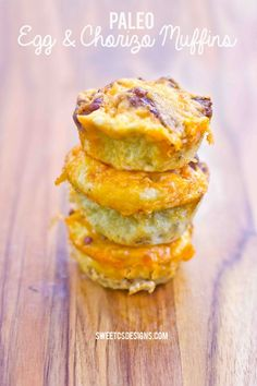 Paleo & Chorizo Muffins are a delicious, easy to make, great on the go breakfast you can make ahead, freeze and heat up for breakfast. Gluten free, low carb