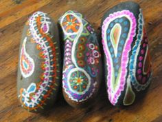 Rock Art Hippie Set by PonderingPebbles on Etsy