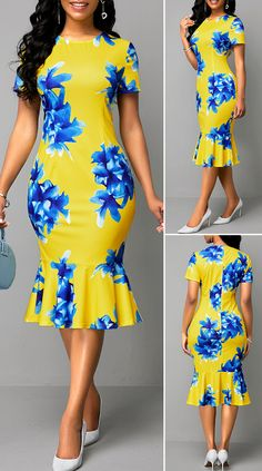 Short African Dresses, Latest African Fashion Dresses, African Print Fashion, African Party Dresses, Outfits Dress, African Attire, The Dress, Holiday Fashion, Fashion Fashion