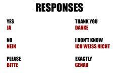 Responses in German