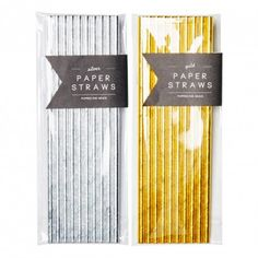 Metallic Paper Straws by Poppies for Grace! Choose from Gold or Silver! Planning the perfectly styled event? Pair with our Metallic party items! Little Boo-Teek - Poppies For Grace | Party Favours Online | Poppies for Grace Metallics Paper Straws