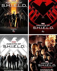 All of the Marvel's Agents of S.H.I.E.L.D. season posters together