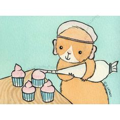 Guineapig Frosting Cupcakes