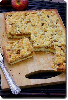 Tarte sbriciolata aux pommes caramélisées façon crumble