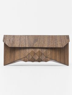 WEARABLE WOOD CLUTCH: AMERICANO   NOT JUST A LABEL