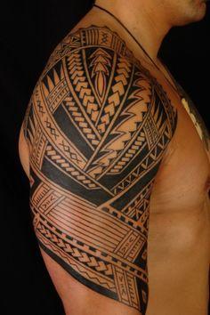 Polynesian Half Sleeve Tattoo 98