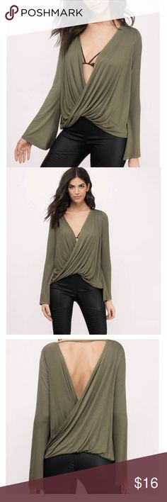 Look at the Light Blouse Brand new never worn cute olive green top! Tobi Tops Blouses