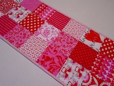 Valentine Quilted Table Runner Quilted by ForgetMeNotQuilteds