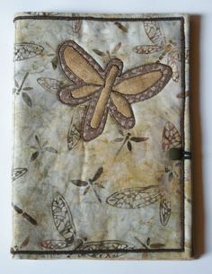 Quilted Dragonfly Notebook Carrier with notecards by heartofautumn