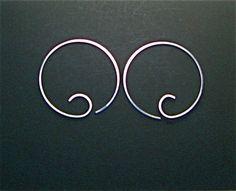 HOOP EARRINGS. sterling silver earrings. small earrings. wire. inch. argentium. sleeper. personalize. eco friendly. interchangeable. No.00E2 on Etsy, $15.95