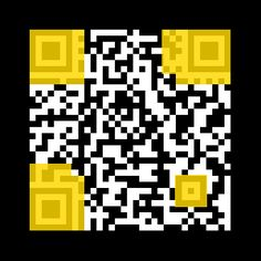 Making your own custom QR code? The areas in yellow should not be covered up Qr Code Generator, Qr Codes, Teacher Stuff, Coding, Fancy, Yellow, How To Make, Programming, Gold