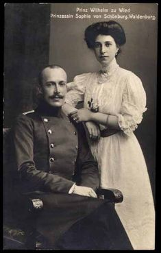 Wilhelm and Sophie di Wied, King and Queen of Albania 1914-1925 (1920-1925 Reggenza)