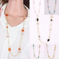 long chain necklace fashion trendy summer necklace acrylic ...