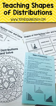 Teaching shapes of distributions | Engage your students with fun and exciting notes and activities