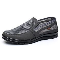 Men Hollow Out Soft Sole Breathable Flats