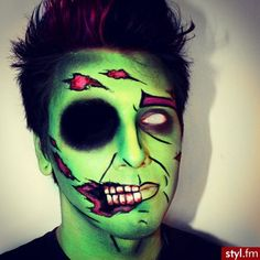 Cartoon Zombie Halloween Makeup