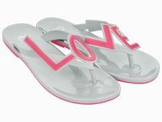 eb620f654 Mel Dreamed by Melissa Love City 2 Grey Pink Flip Flops Mel Shoes