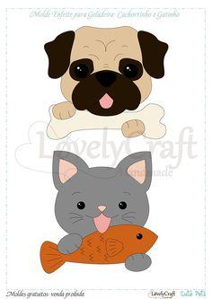 Risultati immagini per felt pug pattern Felt Dogs, Felt Cat, Felt Patterns, Applique Patterns, Felt Finger Puppets, Felt Tree, Needle Felting Tutorials, Dog Crafts, Felt Decorations