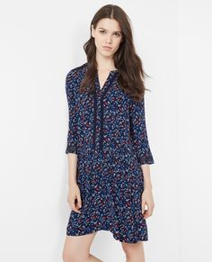 Robe fleurie Veilhan couleur midnight blue | Comptoir des Cotonniers