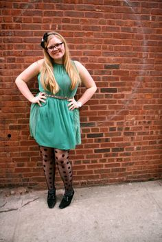 Love her tights!!   IFB Project #33 - Share your #IFBCon Outfit