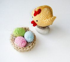 Easter birds Nest with Eggs and Chick  by MiracleFromThreads, $30.00