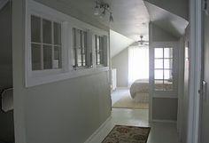 Windows on interior wall, great idea