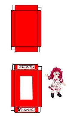 Raggedy Ann - Mini Raggedy Ann For Your Dolls # Miniature Dollhouse Furniture, Dollhouse Toys, Miniature Christmas, Christmas Toys, Barbie Miniatures, Dollhouse Miniatures, Paper Toys, Paper Crafts, Minis
