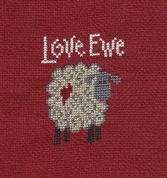 Sheep Counted Cross stitch