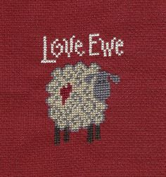 Sheep Counted Cross stitch