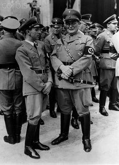 Hermann Goering and Joseph Goebbels