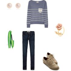 """Back To School Outfit 1"" by abbysilver on Polyvore"